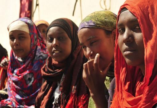 Somali refugees are seen in the prison yard in Benghazi February 26, 2012. REUTERS/Esam Al-Fetori (LIBYA - Tags: POLITICS CRIME LAW)