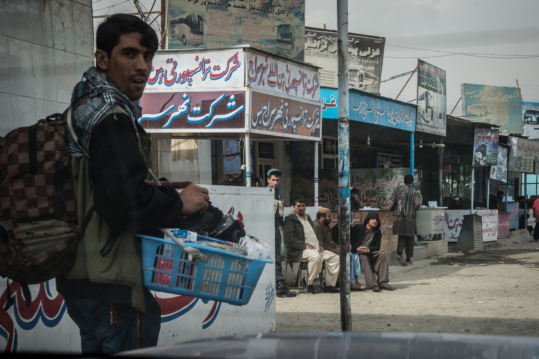 02 November 2015 - Kabul, Afghanistan. Bus Station for neighbouring countries. The country is facing a pivotal period in its history as International armies such as US and Italy decided not to leave the country but to prolong the ongoing war against Talibans in support of the Afghan official Government.
