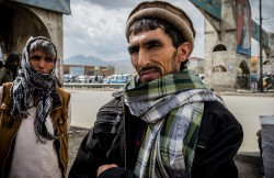 03 November 2015 - Kabul, Afghanistan. Daily life in the capital. Drug users find shelter under a bridge near the main bazaar of the city.. The country is facing a pivotal period in its history as International armies such as US and Italy decided not to leave the country but to prolong the ongoing war against Talibans in support of the Afghan official Government.