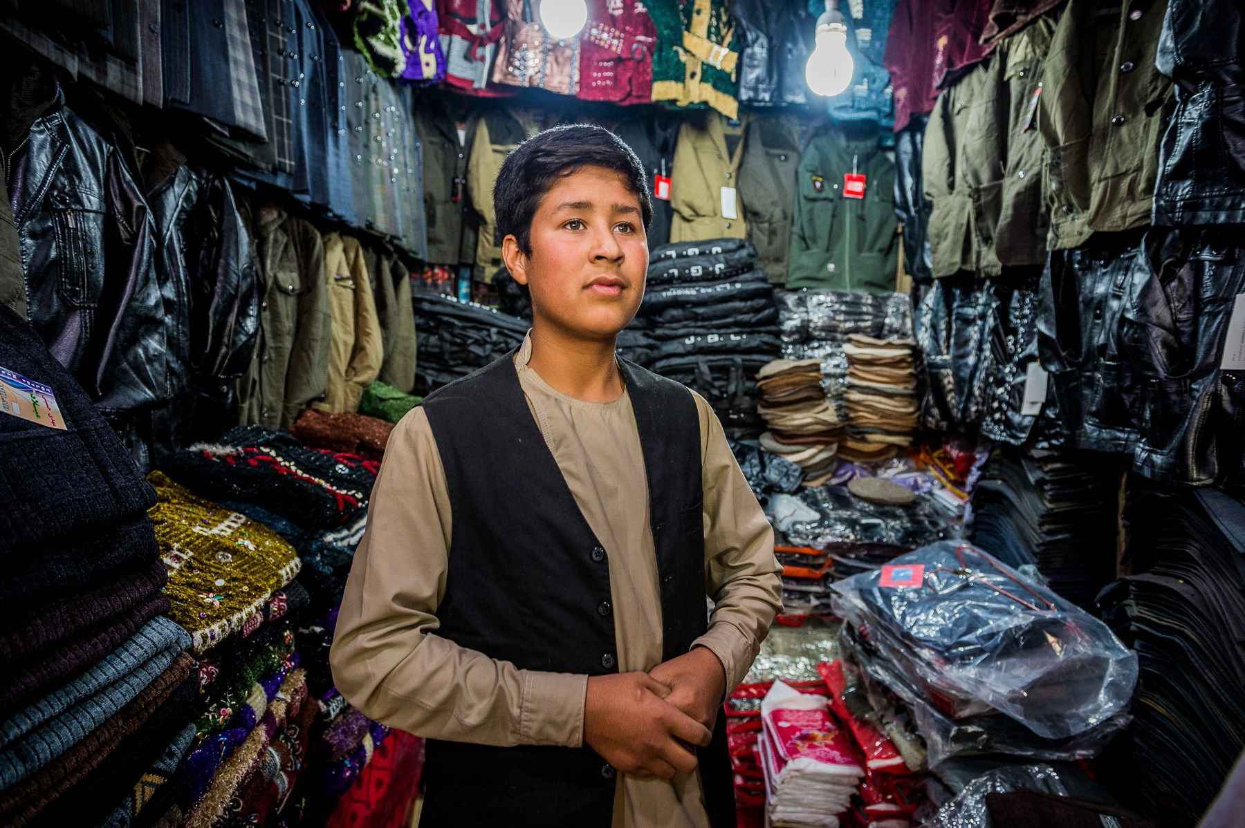 03 November 2015 - Kabul, Afghanistan. Daily life in the capital in the main bazaar of the city. The country is facing a pivotal period in its history as International armies such as US and Italy decided not to leave the country but to prolong the ongoing war against Talibans in support of the Afghan official Government.