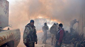 Soldati governativi ad Aleppo (LaPresse)
