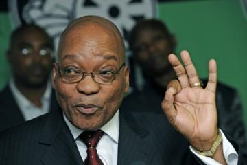 """Jacob Zuma ...Pres ANC @  presso  22 Sept announcing Mbeki""""s successor ....pics Russell Roberts"""