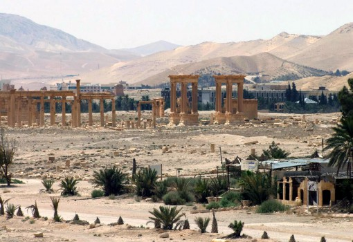 "FILE - This file photo released on Sunday, May 17, 2015, by the Syrian official news agency SANA, shows the general view of the ancient Roman city of Palmyra, northeast of Damascus, Syria. AAn Iraqi military spokesman says the long-awaited military operation to recapture the northern city of Mosul from Islamic State militants ""has begun."" A Syrian official and a an opposition monitoring group also say Syrian government forces are trying to recapture the heart of Palmyra, controlled by the Islamic State group. (SANA via AP, File)"