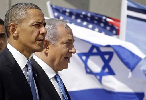 President Barack Obama and Israeli Prime Minister Benjamin Netanyahu tour the Iron Dome Battery defense system, at Ben Gurion International Airport in Tel Aviv, Israel, Wednesday, March 20, 2013, (AP Photo/Pablo Martinez Monsivais)