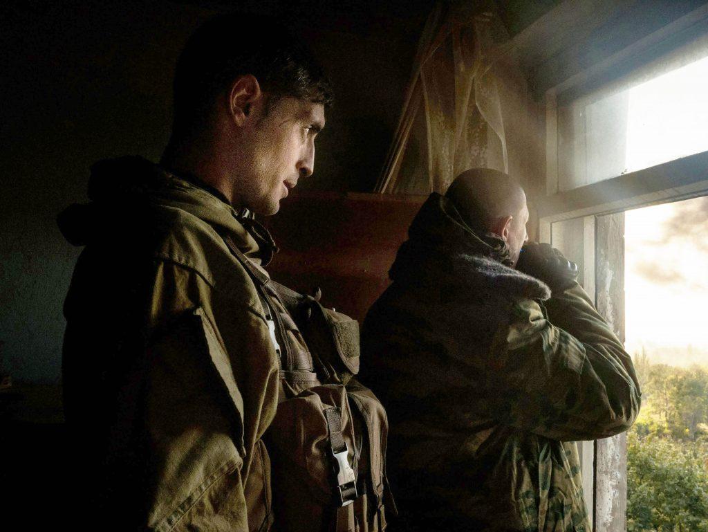 "Ukraine; Donbass region; Donetsk; 02/10/14  The commander Givi observes from his headquarters the battle for the airport of Donetsk. Givi is the commander of the separatist battalion ""Somalia""."