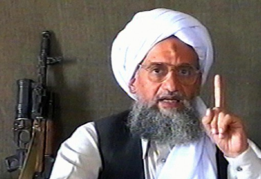 "-, -:  (FILES) -- A TV grab from the Qatar-based Al-Jazeera news channel dated 17 June 2005 shows Al-Qaeda number two Ayman al-Zawahiri delivering a speech at an undisclosed location with a machine gun next to him. Al-Zawahiri, in a video posted on the Internet 29 September 2006, called US President George W Bush a liar who had ""failed in his war against Al-Qaeda"", Al-Jazeera television reported. The previous day, Islamist websites on the Internet had said there would be a new video message posted by Zawahiri entitled "" Bush, the pope, Darfur and the Crusades.""  AFP PHOTO/AL-JAZEERA  -- QATAR OUT & INTERNET OUT --  (Photo credit should read -/AFP/Getty Images)"
