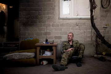 Ukraine; Donetsk; 2016  Area of Spartak, near the frontline, during the night heavy shellings from the Ukrainian side. Trapped with the separatists soldiers all night long.