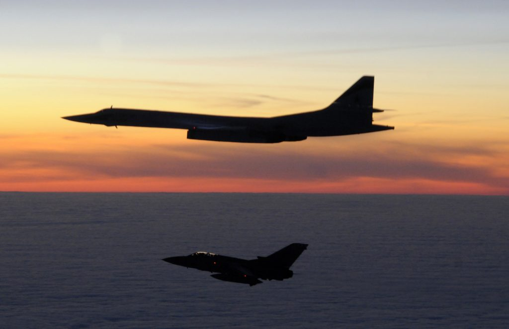 A Russian TU-160 Blackjack aircraft is escorted by a Tornado F3.On 10th March 2010, two RAF Tornado F3 fighter aircraft of 111(Fighter) Squadron were scrambled from RAF Leuchars (Fife) in the early hours of the morning to intercept two Russian TU-160 Blackjack aircraft, which were approx 100nm to the west of Stornaway on the North-West coast of Scotland.  The Tornadoes shadowed the Russian aircraft as they progressed south before the Blackjacks turned north, short of the Northern Irish coast, exiting UK airspace.  RAF Leuchars fighters have successfully scrambled to intercept  Russian aircraft on more than 20 occasions since the start of 2009. The Tornado F3 is planned to go out of RAF Service in 2011; RAF Leuchars will become the RAFÕs second Typhoon fighter base later this year.