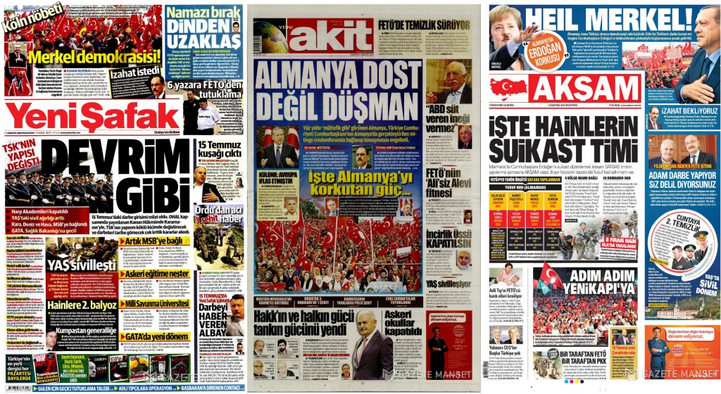 Combo stampa turca Germania