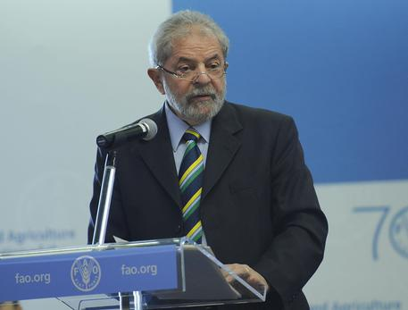 Former Brasil president Lula da Silva during his speech at 39/a Fao conference in Rome 06 June 2015.ANSA/GIORGIO ONORATI