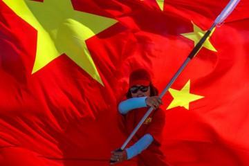 Sostenitori del presidente Xi a Bingham island