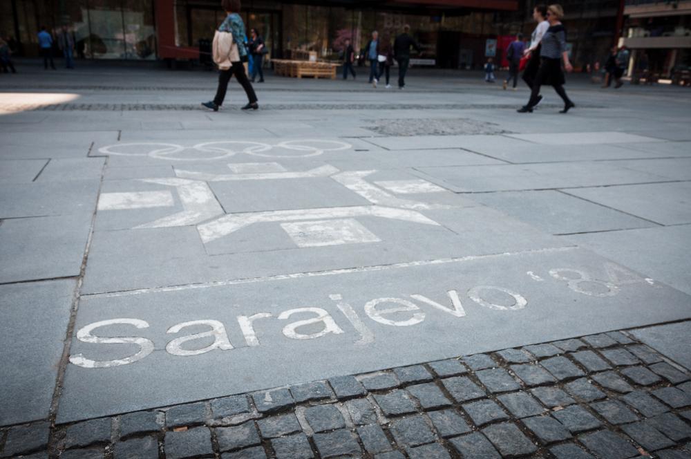 Logo olimpiadi Sarajevo / Marco Ferraro