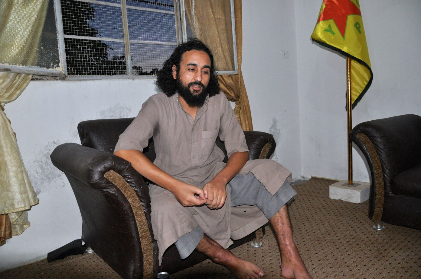 Il prigioneiro jihadista tunisino dei curdi abu Mussa DSC_0356