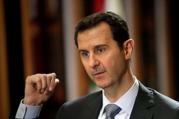 (FILES) - A file picture released on Jan...(FILES) - A file picture released on January 20, 2014, shows Syrian President Bashar al-Assad speaking during an interview with AFP at the presidential palace in Damascus on the weekend. Coalition strikes against the Islamic State group are having no impact, Syrian leader Assad said in an interview to be published on December 4, 2014, as leaders of the US-led offensive claimed to be winning. AFP PHOTO/JOSEPH EID  JOSEPH EID/AFP/Getty Images