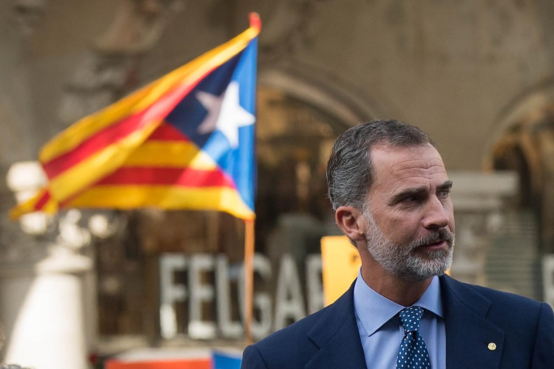 Il re di Spagna e la bandiera catalana