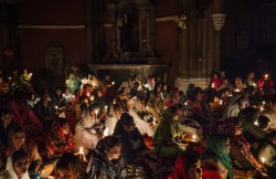 "Asia, Pakistan, Lahore. 17/04/2017. The Easter vigil in the Lahore Cathedral. Christians represent the 2.5% of the population. The Islamic Sharia brought persecution and strong discrimination towards this minority forced to humble work. The main problem is the law that condemned blasphemy. Each type of controversy between Christians and Muslims is often resolved from Muslims accusing the ""other side"" of this kind of crime for which you can be put in jail with capital law with only one available testimony."