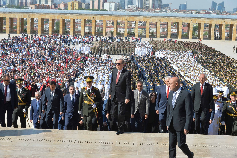 Erdogan all'Antikabir per la 95esima festa della vittoria - Depo Photos/ABACAPRESS.COM