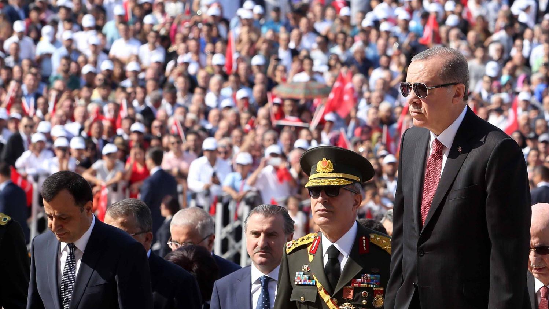 Erdogan all'Anitkabir il giorno della Vittoria Depo Photos/ABACAPRESS.COM