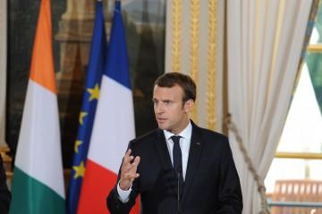 Il presidente francese Macron all'Eliseo. Pool/ABACAPRESS.COM