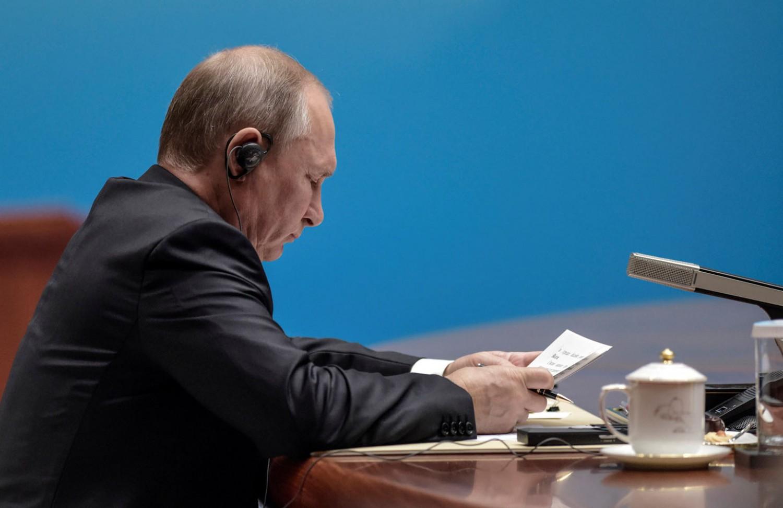 Putin all'assemblea plenaria dei Brics. REUTERS/Fred Dufour/Pool