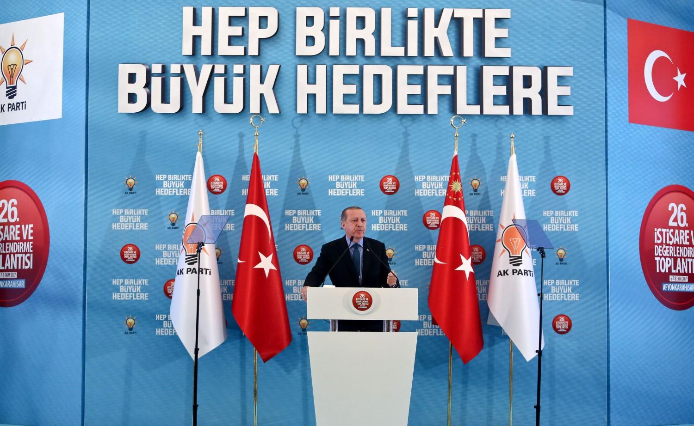 Un comizio dell'Akp a Afyonkarahisar