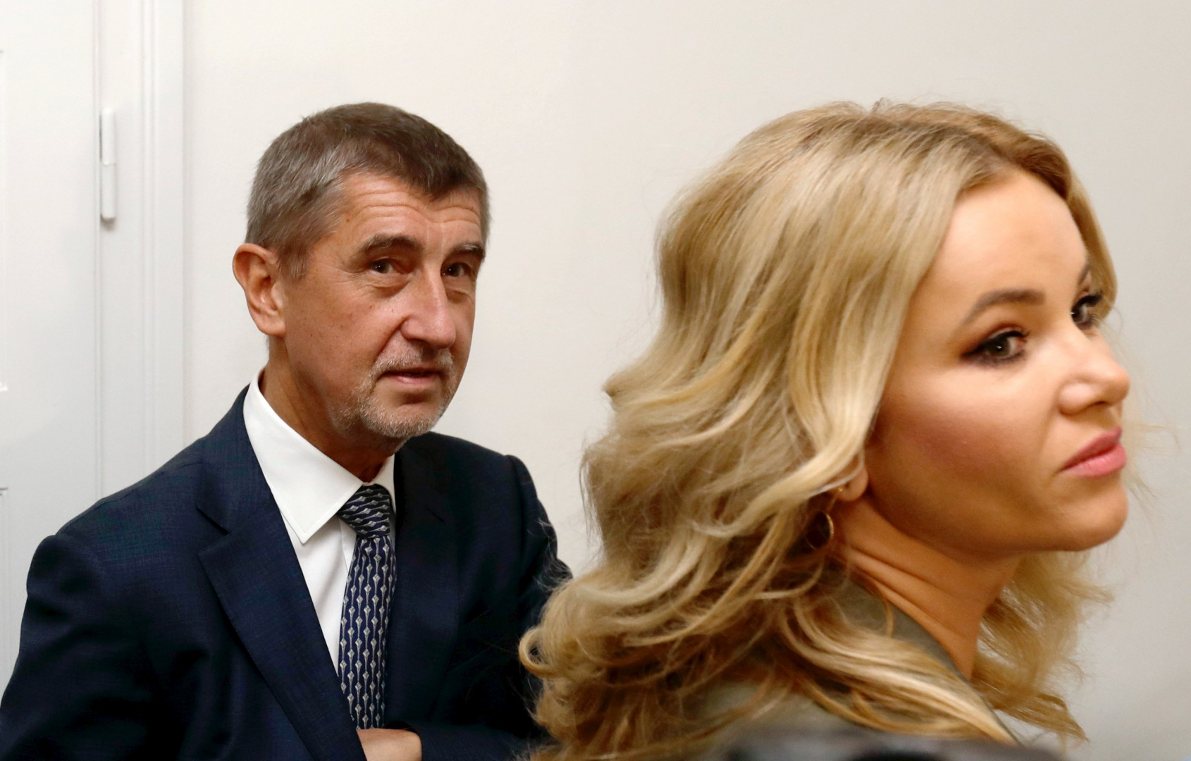 The leader of ANO party Andrej Babis and his wife Monika arrive to cast their vote in parliamentary elections in Prague, Czech Republic October 20, 2017.    REUTERS/David W Cerny