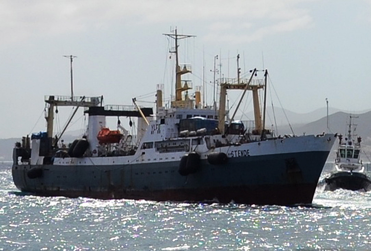 RUSSIA. APRIL 2, 2015. THIS UNDATED IMAGE PROVIDED BY FLEETMON.COM SHOWS THE RUSSIAN FREEZER TRAWLER -DALNY VOSTOK- THAT WAS KNOWN AS STENDE AND WAS ASSIGNED TO RIGA PORT TILL 2014. THE VESSEL WITH 132 CREW MEMBERS ON BOARD SANK IN THE SEA OF OKHOTSK. 54 OF THEM HAVE BEEN REPORTED DEAD. FILE IMAGE/FLEETMON.COM/TASS