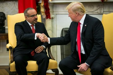 Trump e il principe Salman bin Hamad bin Isa al-Khalifa