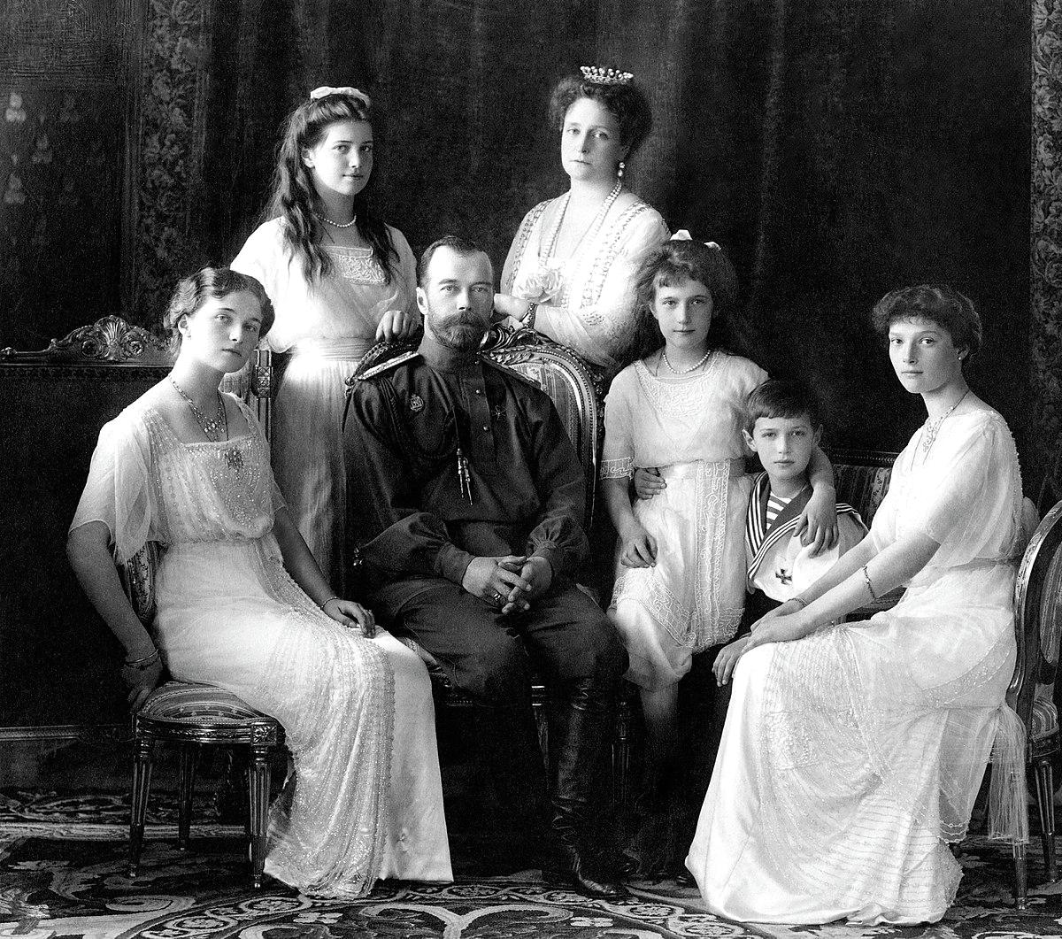 Lo zar Nicola II e la famiglia Romanov