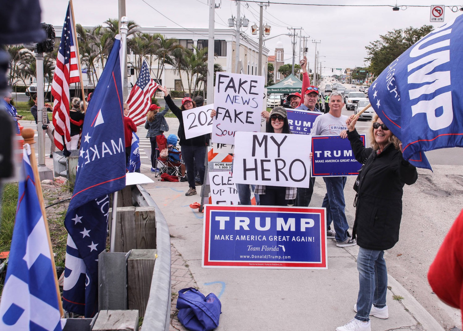Sostenitori di Trump in Florida - DAMON HIGGINS/THE PALM BEACH POST VIA ZUMA WIRE