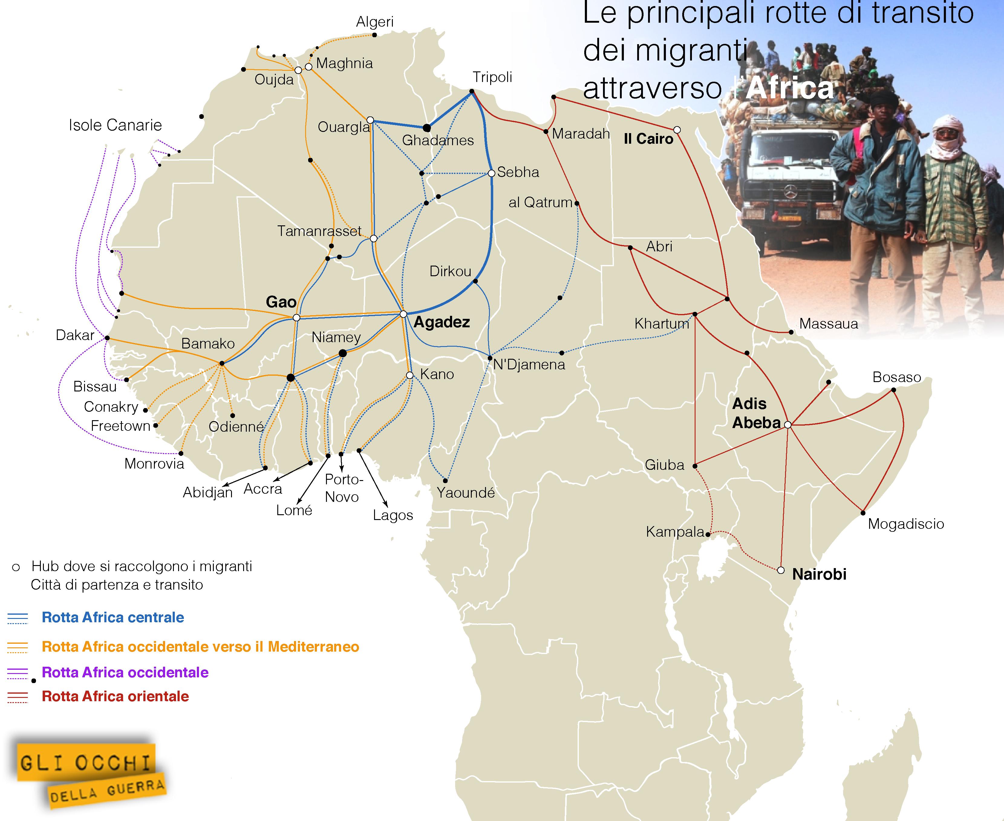 rotte migranti africa
