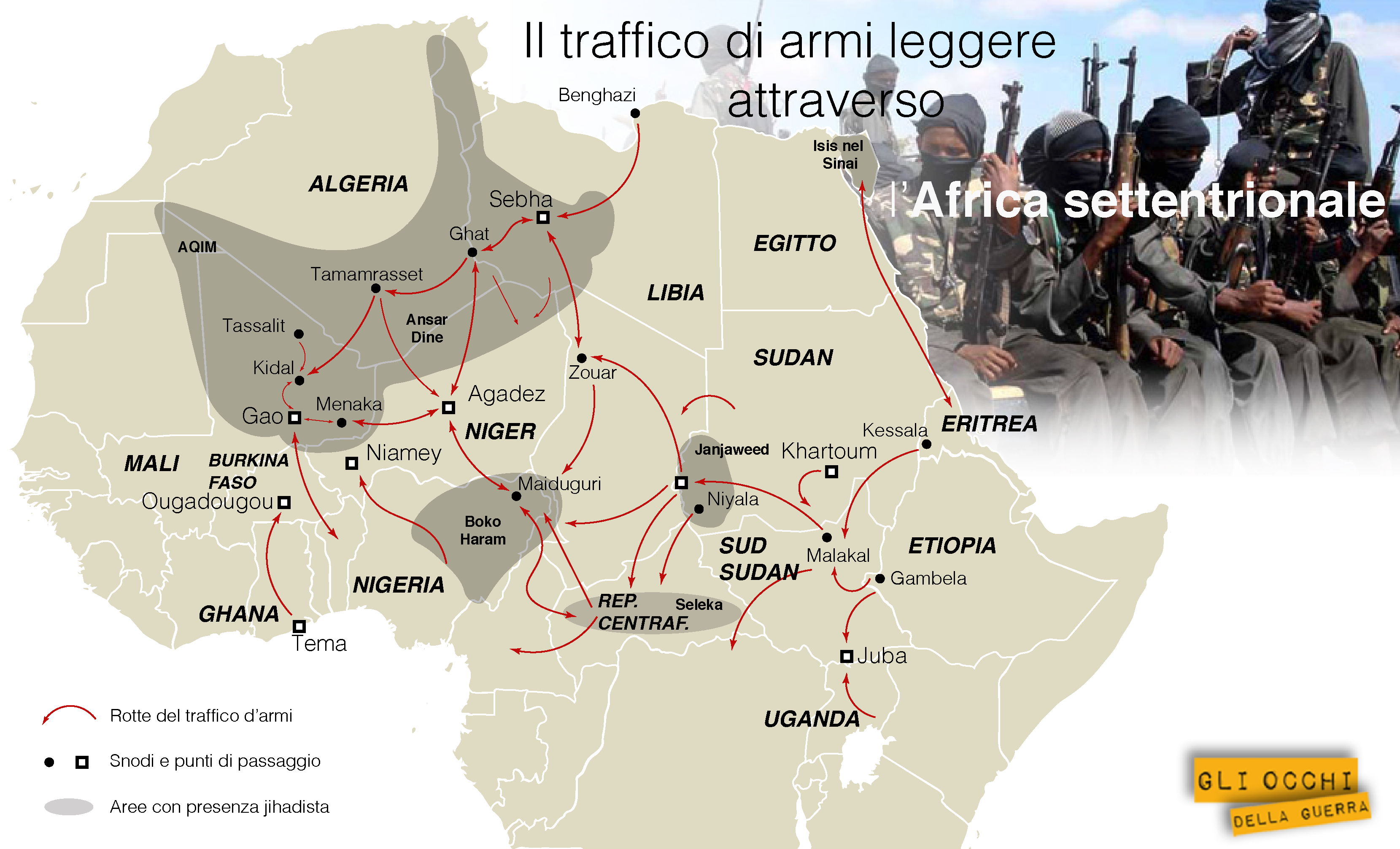 traffico di armi africa