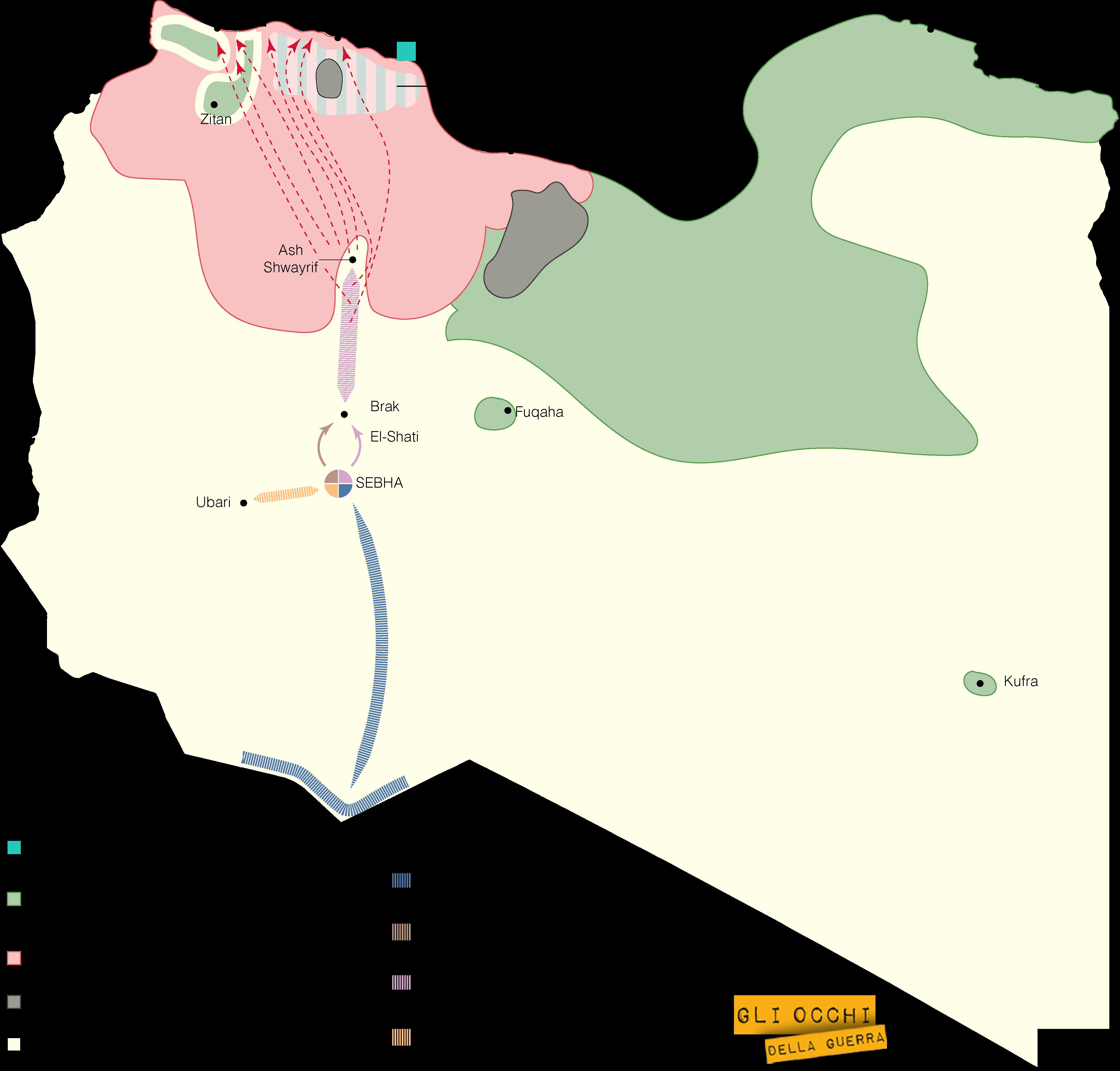 Mappa Libia (Alberto Bellotto)