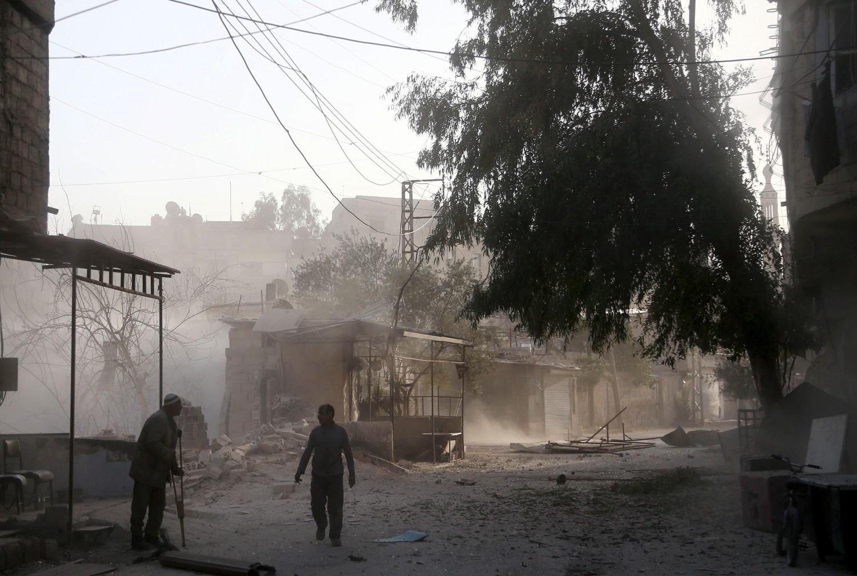 Hamouria, Ghouta dell'Est. AFP PHOTO / ABDULMONAM EASSA