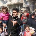 Missili, lacrime e ribelli <br>Civili in fuga da Ghouta