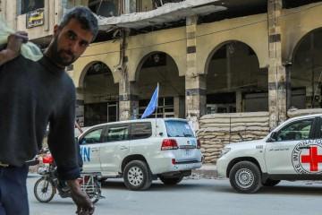 Un civile nella Ghouta orientale