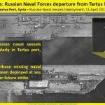 La Russia si prepara alla guerra: <br> navi escono dal porto di Tartus