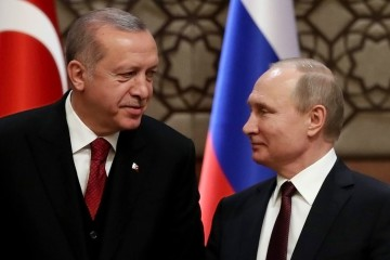 Vladimir Putin e Recep Tayyip Erdogan e il futuro di Idlib (LaPresse)