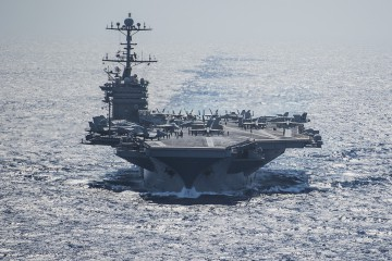 160615-N-NX690-005 MEDITERRANEAN SEA (June 15, 2016) Aircraft carrier USS Harry S. Truman (CVN 75) conducts flight operations from the Mediterranean Sea. Harry S. Truman Carrier Strike Group is deployed in support of Operation Inherent Resolve, maritime security operations and theater security cooperation efforts in the U.S. 6th Fleet area of operations. (U.S. Navy photo by Mass Communication 3rd Class J. M. Tolbert/ Released)