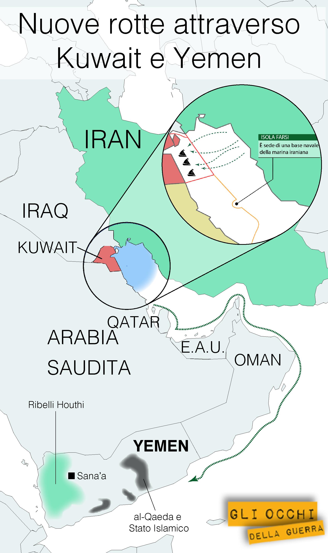 yemen nuove rotte