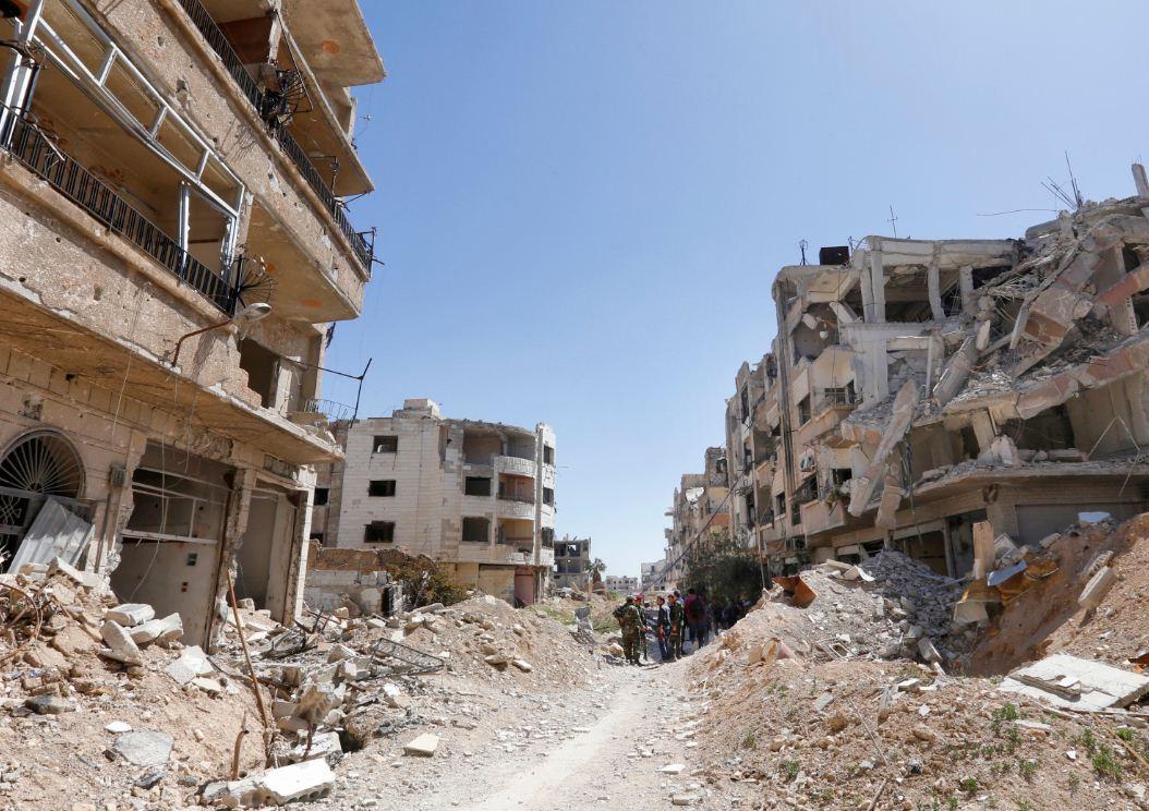 Jobar, dove è avvenuto l'attacco chimico del 2013 (LaPresse)