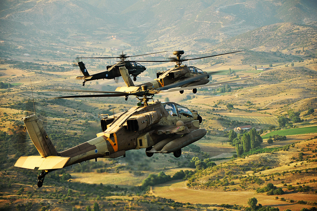 Elicotteri dell'aviazione israeliana sorvolano il territorio della Grecia nell'ambito delle esercitazioni congiunte