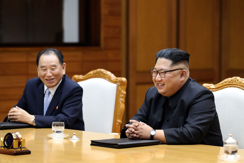 Kim Jong-un incontra Moon Jae-in (Getty)