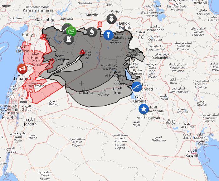 I territori controllati dall'Isis in Siria e in Iraq nell'estate del 2015 (Isisliveuamap)