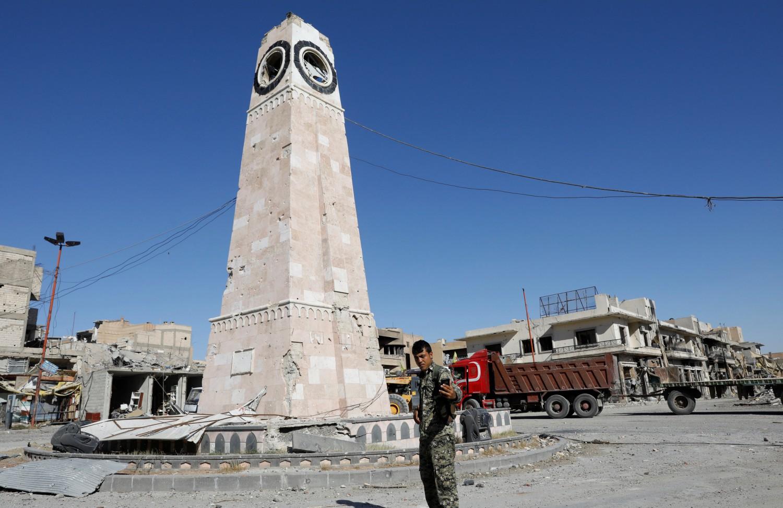 Le Sdf a Raqqa, in Siria (LaPresse)
