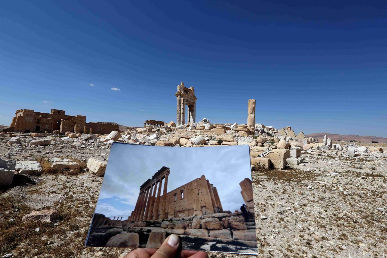 La parte antica di Palmira (LaPresse)