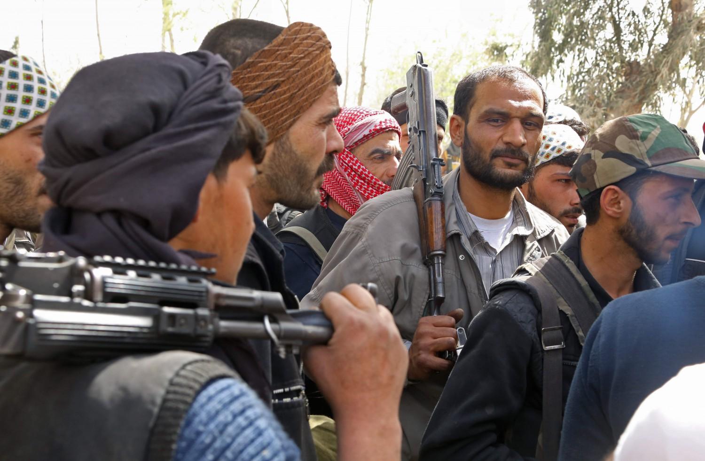 I ribelli dell'Esercito dell'islam a Douma