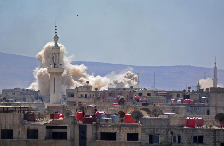 L'esercito siriano avanza su Yarmouk, a sud di Damasco (LaPresse)