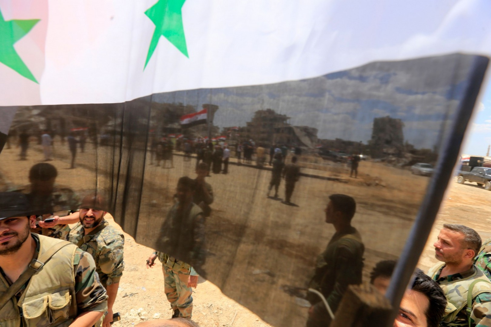 Siria, l'esercito a al-Hajar al-Aswad (LaPresse)