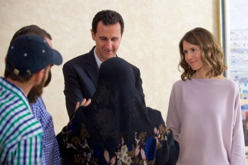 Asma e Bashar al Assad (Facebook)